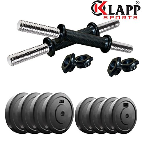 Klapp Dumbbells Set-20 Kg Home Gym Set (In Rubber Material)  available at amazon for Rs.1049
