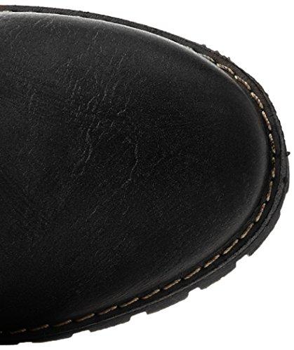 Refresh 63883, Bottes Femme, Blanc Cassé, EU Noir (Black)