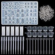 Molde de Joyas Silicona 141 PC, 1 Forma Molde Silicona+ 100 piezas de tornillo Pins