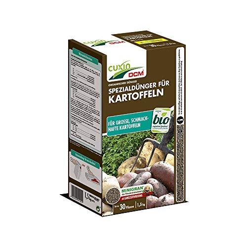 Cuxin 3,0 Kg Bio Kartoffeldünger für ca. 60 Pflanzen ⎜organischer Dünger für Kartoffeln ⎜✅+Bodenanalyse-Gutschein (3,0 Kg)