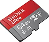 SanDisk Ultra 64GB microSDXC Memory Card + SD Adapter with A1 App Performance up to 100MB/s, Class 10, U1 only £14.99 on Amazon