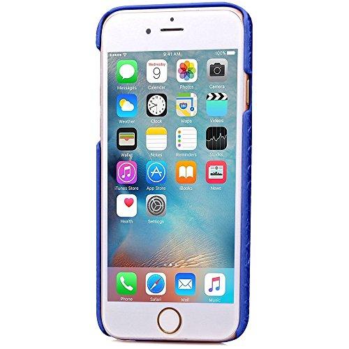 iPhone Case Cover Harte rückseitige Abdeckung Diamant-Gitter-Gitter-Muster harter Abdeckungs-Fall mit Karten-Slot für Iphone 6S ( Color : Gray , Size : Iphone6S ) Blue