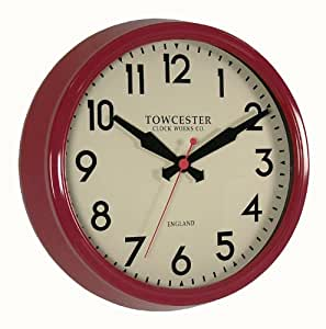 Acctim fenchurch 26914 horloge murale rouge for Horloge murale cuisine rouge