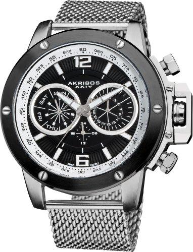 Akribos AK515SSB - Reloj de Cuarzo para Hombres, Color Plata