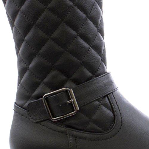 cheval Cushion Bottine de femme matelassée Walk Noir Cushion intérieur Walk noir qtn6F