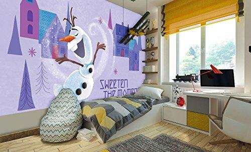 Fototapety papierowe (368 x 254 cm) Fototapete Tapete Wandbild Welt-der-Träume | Frozen | P8 (368cm. x 254cm.) | Photo Wallpaper Mural 11566P8-MS | Frozen Elsa Anna Olaf Winter Kinder - Kinder, Disney Mädchen, Tapete,