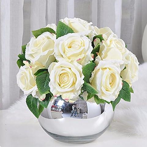 KAI-das wohnzimmer tisch rose blumen floral kaffeekanne hat moderne blume runde 15 weiße (Essbare Arrangements Weihnachten)