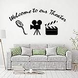Bienvenido a nuestra oferta de teatro, vinilos decorativos para el hogar, decoración para el hogar, estilo de película, murales de pared