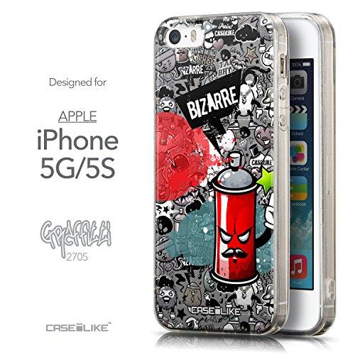 CASEiLIKE Comic Beschriftung 2914 Ultra Slim Back Hart Plastik Stoßstange Hülle Cover for Apple iPhone 5G / 5S +Folie Displayschutzfolie +Eingabestift Touchstift (Zufällige Farbe) 2705