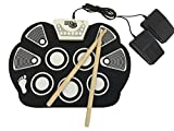 Rock And Roll It - Drum Flexible Completely Portable battery OR USB powered 2 Drum Sticks Bass Drum Hi hat pedal included