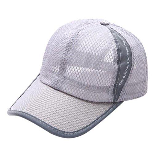 OYSOHE Damen & Herren Baseball Kappe, Neueste Sommer atmungsaktive Mesh Baseball Cap Männer Frauen Sport Hüte(Grau,One Size)