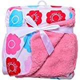 EIO® Carter Baby Fleece Double Layer Blanket (76 X 100 Cm) (PINK SI)