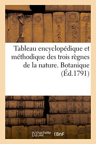Tableau encyclopédique et méthodique des trois règnes de la nature, botanique