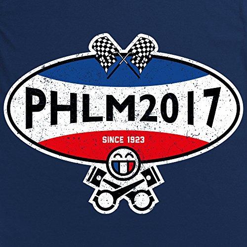 PistonHeads PHLM17 Oval Langarmshirt, Herren Dunkelblau