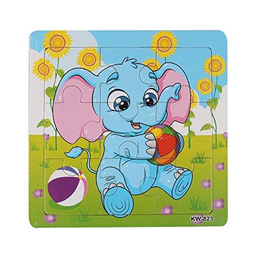 Frashing To Have Fun !!! Wooden Elephant Puzzle Spielzeug für Kinder Bildung und Lernpuzzles Spielzeug Wooden Elephant Jigsaw Toys (Marionette Doll Kostüme)