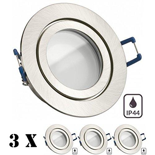 IP44 LED Einbauleuchten Einbaustrahler Set Nassraum Badezimmer 230V 4W=35W