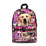 FOR U DESIGNS Camouflage Tiger Wolf Cat Cute Dog Printed School Backpacks Book