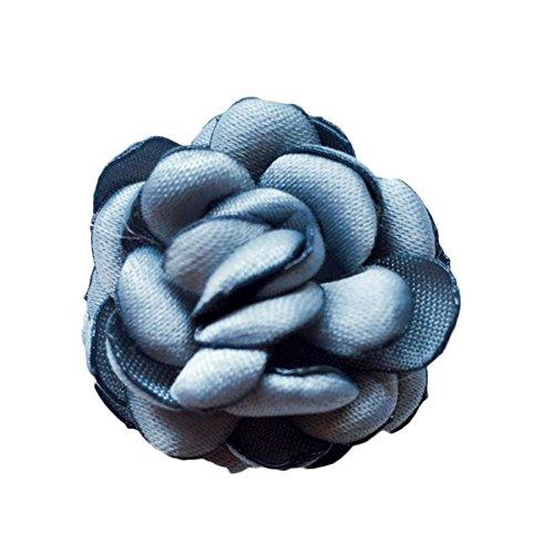 Broschen Corsage Weiblich Weihnachten Vintage Schmuck Brustpin Handmade Blumen Haar Ornament Kopf,Lightblue-OneSize -