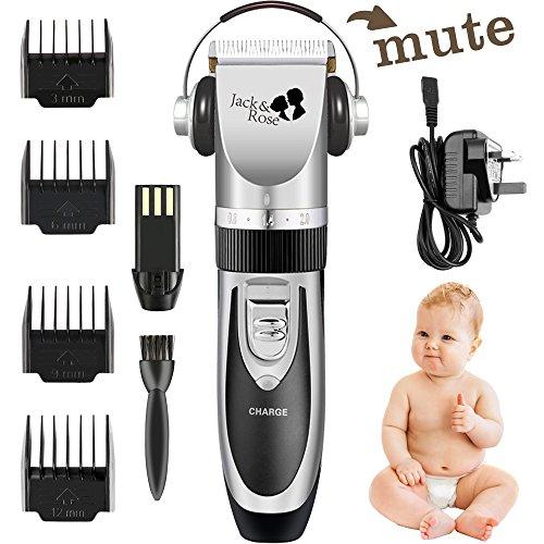 Wiederaufladbare Akku-barttrimmer (Jack & Rose Profi Elektrische Haarschneidemaschine Wiederaufladbare Haarschneider Set Haartrimmerset Haartrimmer mit 4 Trimmaufsätzen für Kinder und Herren)