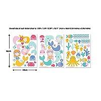Walltastic Mermaid Wall Stickers, Vinyl Multi-Colour, 37.5 x 4 x 18 cm