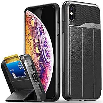 VENA Coque iPhone XS Max, vCommute Housse Étui Pochette Portefeuille en Cuir avec Stand Pliant
