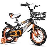 Fenfen Kinder Fahrrad 18-Zoll-männlich und weiblich Kinderwagen 6-9-jährige Kind Auto High-Carbon-Stahlrahmen, Orange/Blau/Rot (Color : Orange)