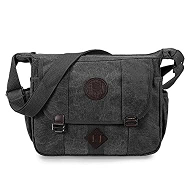Messenger Bag, GSTEK Retro Canvas Messenger Bags Casual Shoulder Pack Daypack Sling Bag for Men and Women Sports, Work…