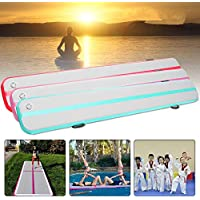 Plat Firm 197X15.7X5.9 Pulgadas Airtrack Gimnasia Mat Home Tumbling Rolling Mat Inflable Gym Air Track Mat Floor Training Deportes Pad