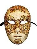 Masque vénitien de luxe Volto Mac II pour homme (or)