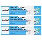 COM-FOUR® 3x 10 Eiswürfelbeutel für 720 Eiswürfel im Sparpack