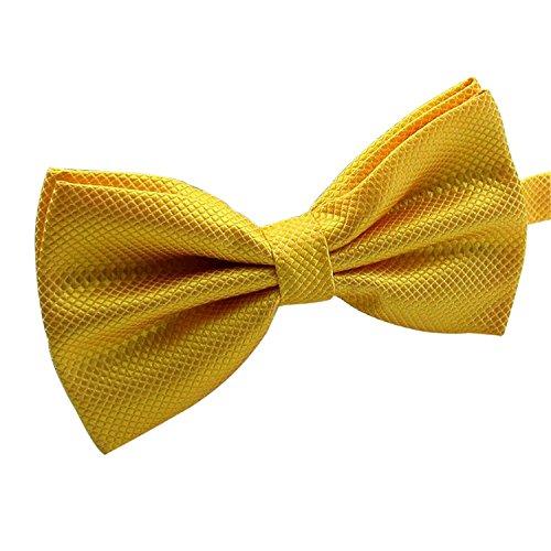 AINOW Herren Fliege Einheitsgröße Gr. Einheitsgröße, gelb Dark Red Bow Tie