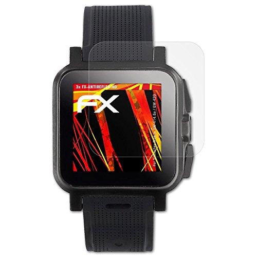 atFoliX Schutzfolie kompatibel mit Simvalley-Mobile AW-414.Go/GW-420 Bildschirmschutzfolie, HD-Entspiegelung FX Folie (3X)