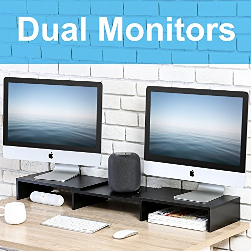 FITUEYES Wood Dual Monitor Stand...