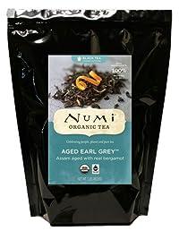 Numi Organic Tea Aged Earl Grey, Italian Bergamot Blended Black Tea, Loose Leaf, 16 Ounce Bulk Pouch