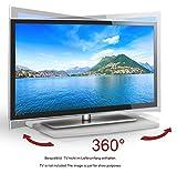 RICOO TV Drehteller Fernsehtisch LCD Fernsehstand Drehbar FS053W LED Fernseher Tisch Aufsatz Podest Flachbildfernseher PC Monitor Drehscheibe Drehplatte Bildschirm Untergestell Universal/Weiß