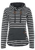 BlendShe Carina Damen Hoodie Kapuzenpullover Pullover Mit Kapuze, Größe:XXL, Farbe:Charcoal (70818)