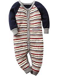 MNBS Peleles bebe invierno raya suéter sweater abrigos bebe niño ninas sudaderas suéter ropa