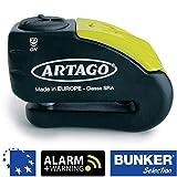 Artago 30X10 Candado antirrobo Moto Disco Alarma 120 db Warning pre-Alerta Alta Gama ø10 Doble Cierre homologado Sra, mm
