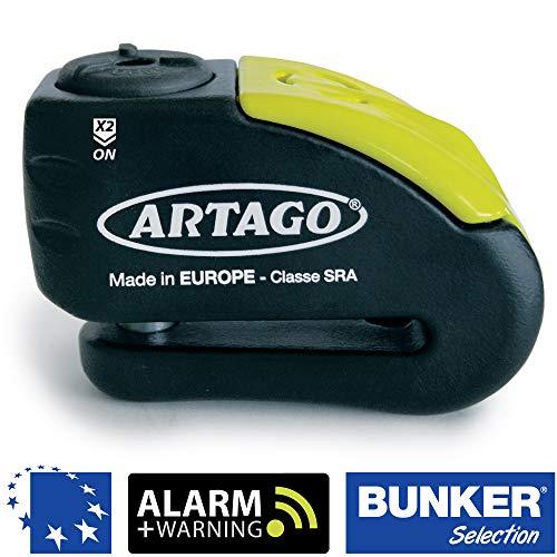 Artago 30X10 Candado antirrobo Moto Disco Alarma 120 db Warning pre-Alerta Alta...