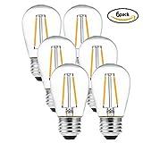LEDGLE E27 ST45 Vintage Edison LED Glühbirne superhell 2W=24W E27 Filament Fadenlampe Warmweiß 2700K 360 ° Abstrahlwinkel 6er-Pack