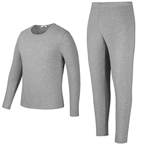 Yulee Men's Fleece Lined Thick Thermal Underwear Set Top & Bottom