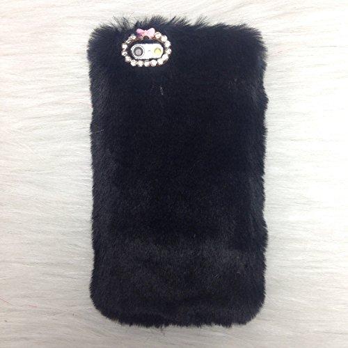 Pour Coque iPhone SE , iNenk® Rex Imitation laine chaude téléphone Shell mode luxe marée couverture Protection affaire manchon Bowknot pour femmes-gris Noir
