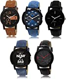 SVM LK-12578 Latest Multicolor Set of 5 for Men and Boys Watch - for Men