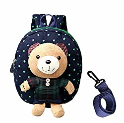 Dd Toddler Boys Girls Kids Children Toys Backpack, Removable Bear Doll Safety Anti-lost Strap Rucksack With Reins