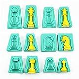 tangchu Silikon Kuchen Schokolade Fondant Formen Set Green-Chess