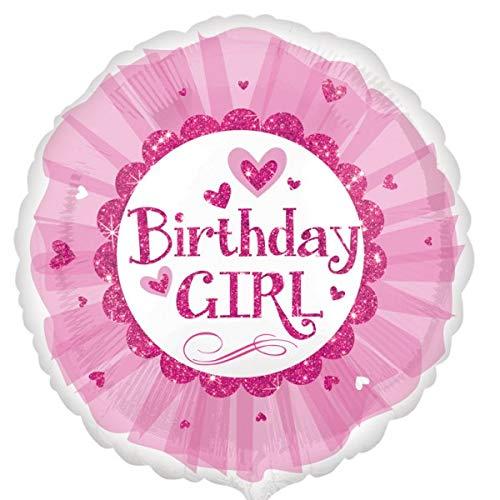 Amscan Birthday Girl Sparkle Tutu Standard HX Folie Luftballons, pink Sparkle Tutu