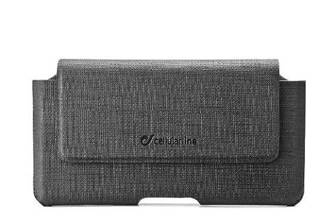 Cellular Line ACTIESSENTIALXXL Kunstledertasche mit Magnetverschluss inkl. Gürtelclip für Samsung Galaxy S3/Nokia Lumia 920 schwarz