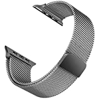Microsonic 21285 Apple Watch 5 44mm Milanese Loop Version 3 Kordon Gri