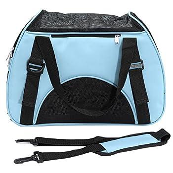 Sac de transport - SODIAL(R)Sac de transport de voyage pour chien chat Sac d'animal de compagnie en tissu bleu