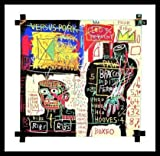 Jean-Michel Basquiat Poster Kunstdruck Bild The Italian version of Popeye has no Pork in his Diet 1982 im Alu Rahmen schwarz 76x76cm - Germanposters